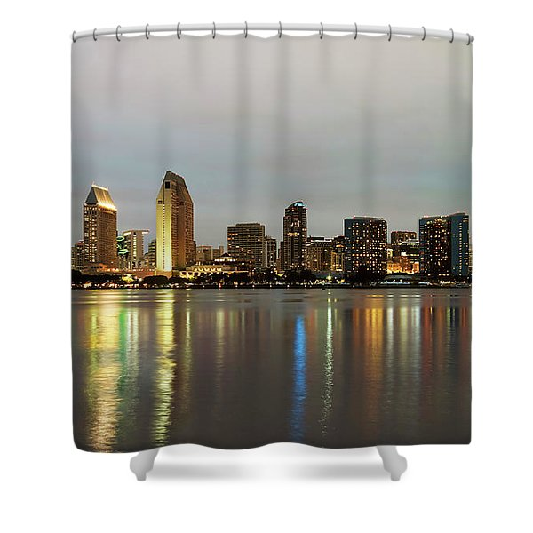A View Of San Diego Bay And Downtown, California, Usa Shower Curtain