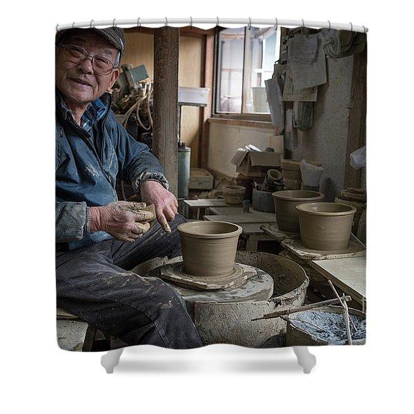 A Village Pottery Studio, Japan Shower Curtain