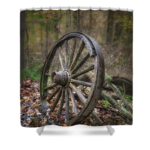 Abandoned Wagon Shower Curtain