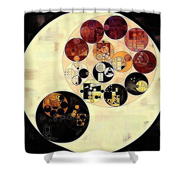 Abstract Painting - Black Shower Curtain