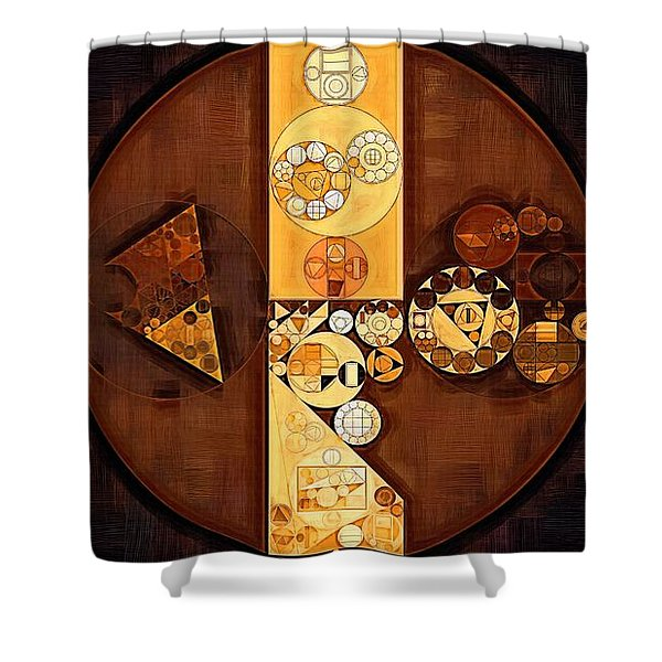 Abstract Painting - Harvest Gold Shower Curtain