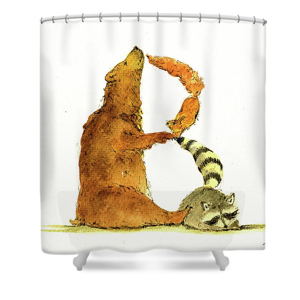 Animal Letter Shower Curtain