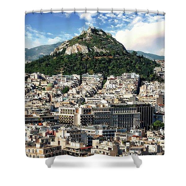 Athens Panorama Shower Curtain