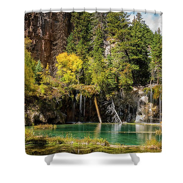 Autumn At Hanging Lake Waterfall - Glenwood Canyon Colorado Shower Curtain