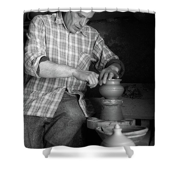 Azores Islands Pottery Shower Curtain