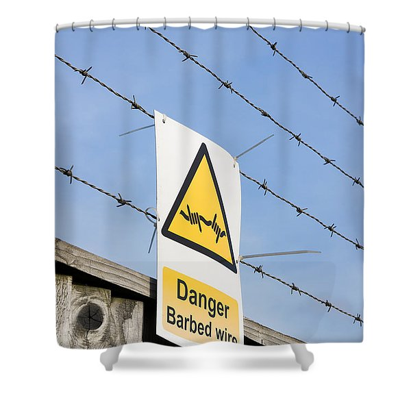 Barbed Wire Fence Shower Curtain