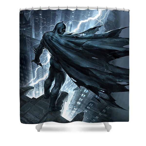 Batman The Dark Knight Returns 2012 Shower Curtain
