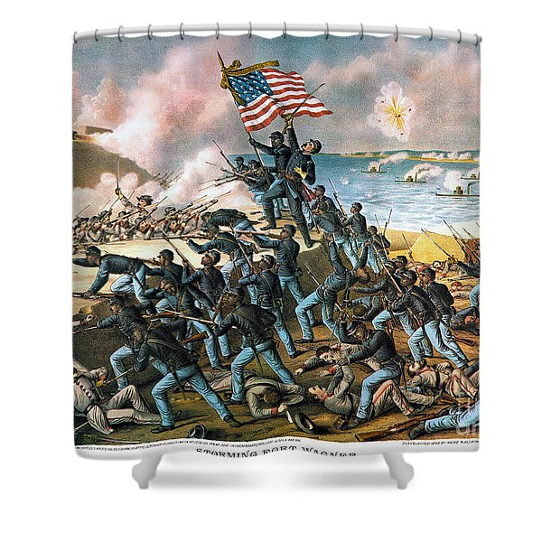 Battle Of Fort Wagner, 1863 Shower Curtain