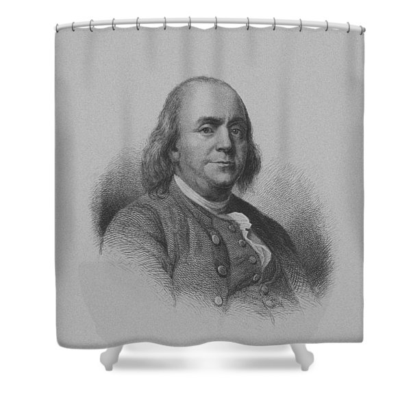 Benjamin Franklin Shower Curtain