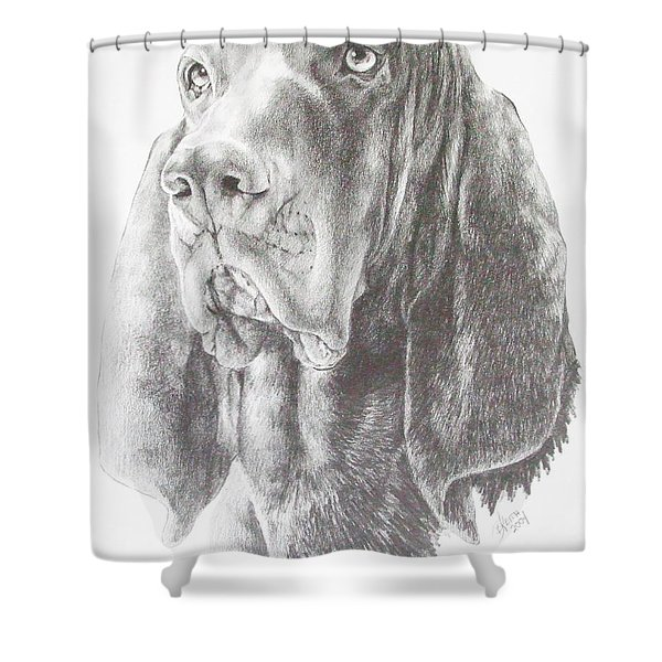 Black And Tan Coonhound Shower Curtain