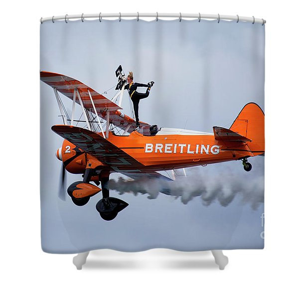 Breitling Wing Walker Shower Curtain