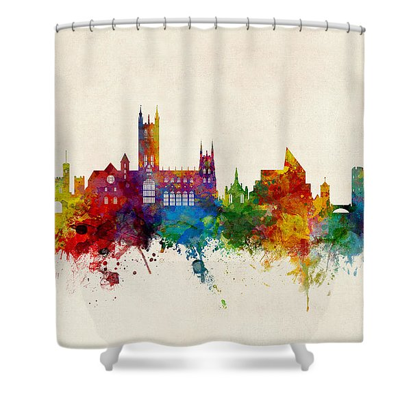Canterbury England Skyline Shower Curtain