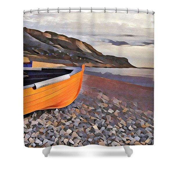 Chesil Beach Shower Curtain