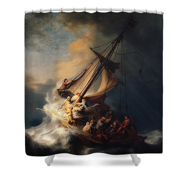 Christ In The Storm On The Lake Of Galilee Shower Curtain