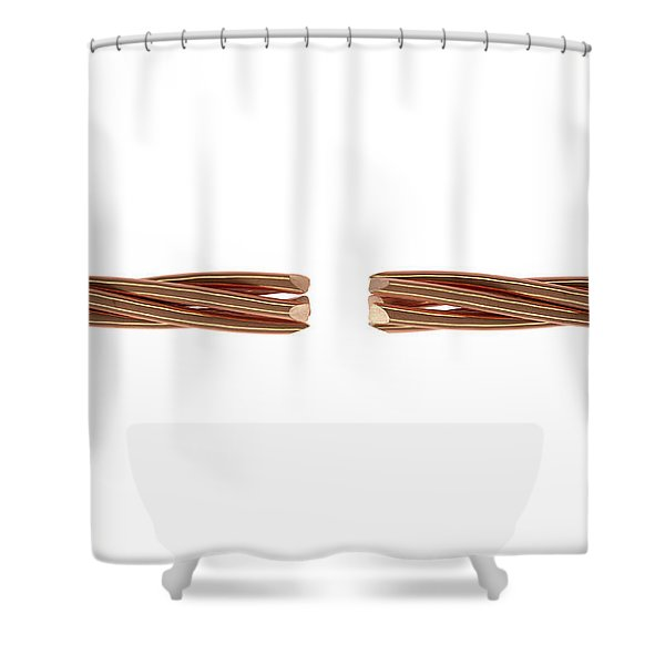Copper Wire Strands Disconnected Shower Curtain