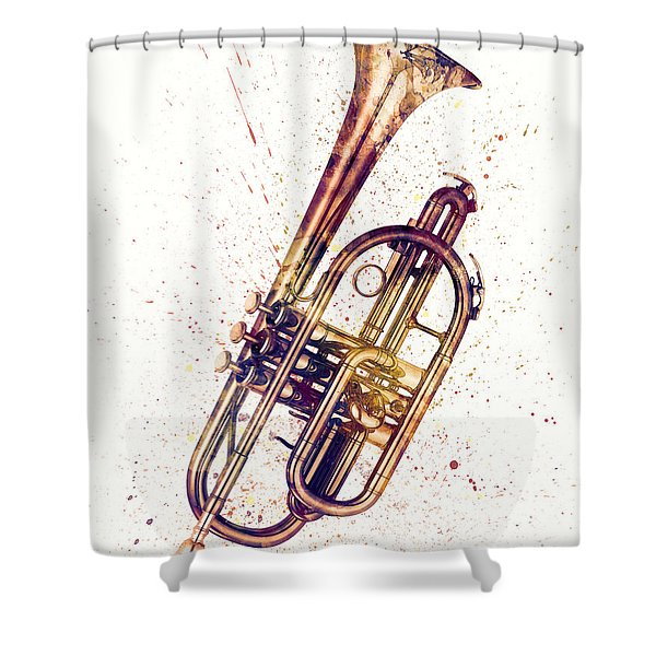 Cornet Abstract Watercolor Shower Curtain