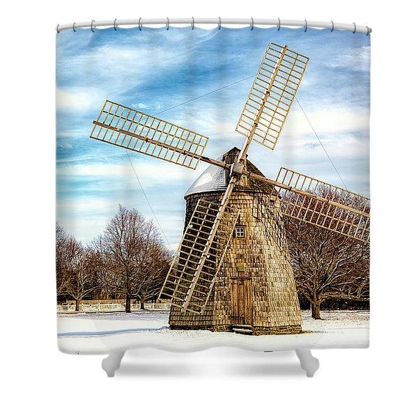 Corwith Windmill Long Island Ny Cii Shower Curtain
