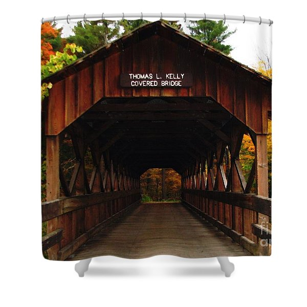 Covered Bridge At Allegany State Park Shower Curtain