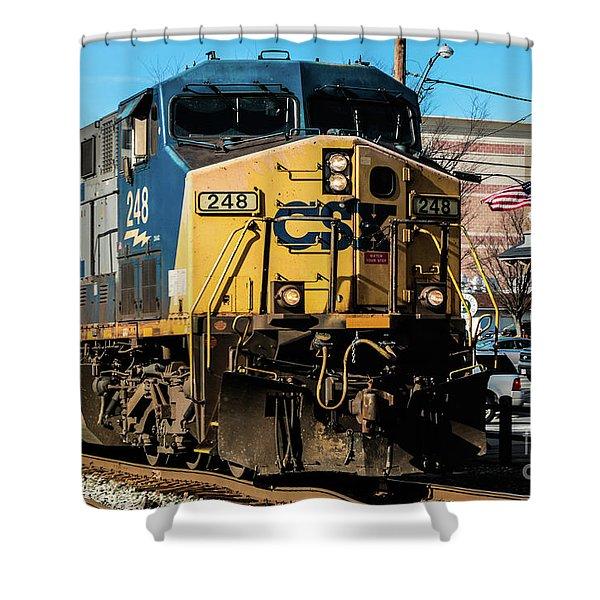 Csx Engine Gaithersburg Maryland Shower Curtain