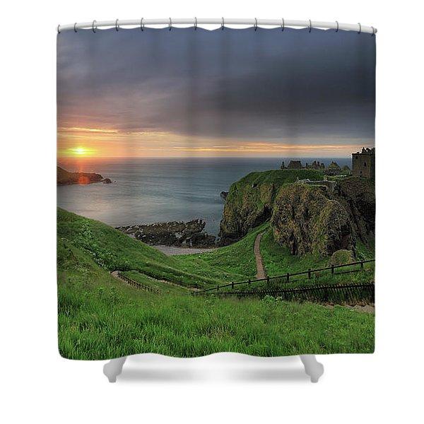 Dunnottar Castle At Sunrise Shower Curtain