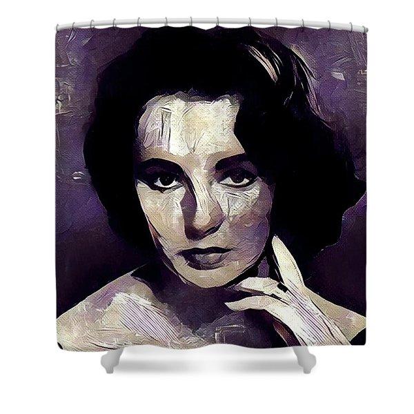 Elizabeth Taylor Hollywood Actress Shower Curtain