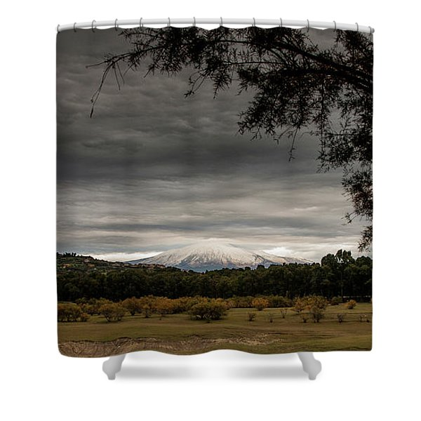 Etna, The West Side Shower Curtain