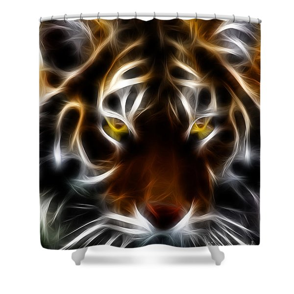 Eye Of The Tiger Shower Curtain by Wingsdomain Art and Photography