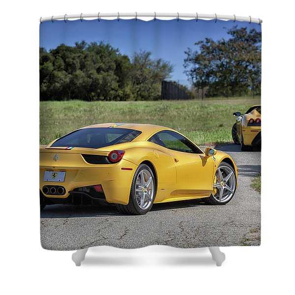 #ferrari #458italia #print Shower Curtain