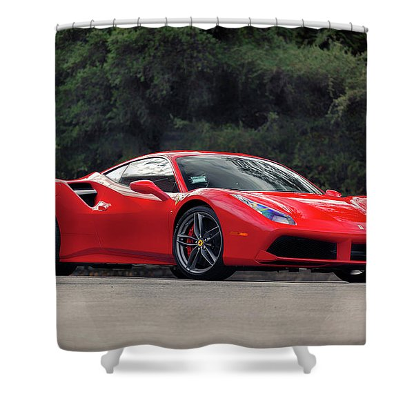 #ferrari #488gtb Shower Curtain
