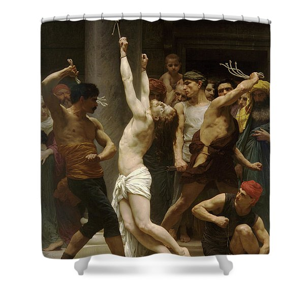 Flagellation Of Christ Shower Curtain