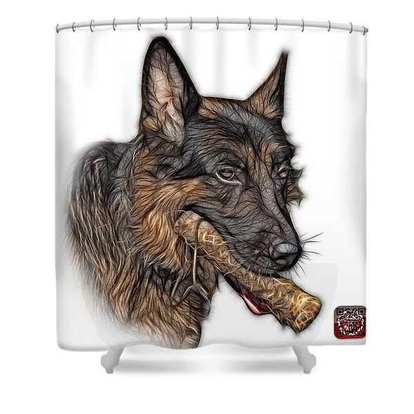 German Shepherd And Toy - 0745 F Shower Curtain