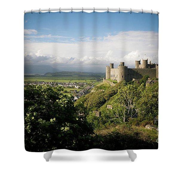 Harlech Castle, Snowdonia, Gwynedd, North Wales, Uk Shower Curtain