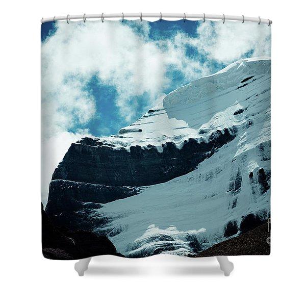 Holy Kailas Fragment Himalayas Tibet Yantra.lv Shower Curtain