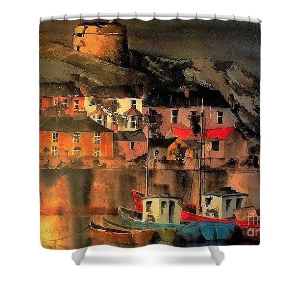 Howth Sunset Dublin Shower Curtain