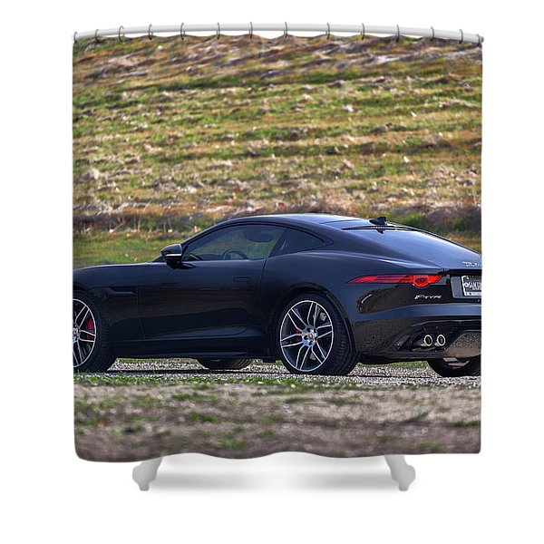 #jaguar #f-type #print Shower Curtain