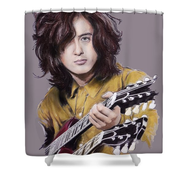 Jimmy Page 1 Shower Curtain
