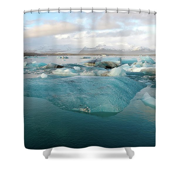 Jokulsarlon The Glacier Lagoon, Iceland 2 Shower Curtain