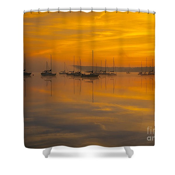 Shower Curtain featuring the photograph Lake Massabesic - Auburn New Hampshire Usa by Erin Paul Donovan