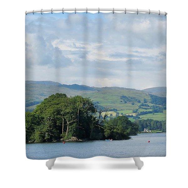 Lake Windermere England Shower Curtain