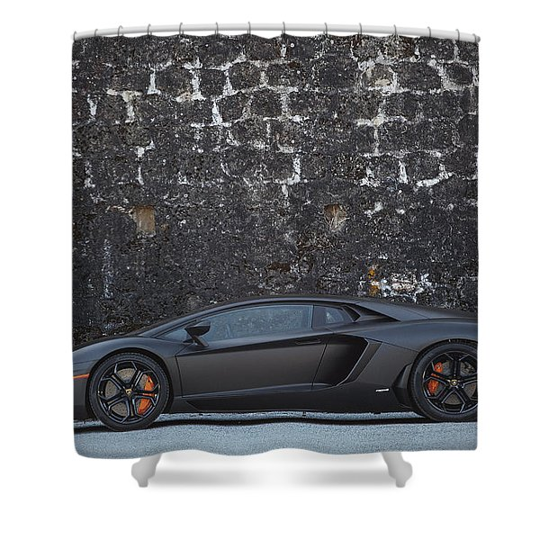 #lamborghini #aventador  Shower Curtain