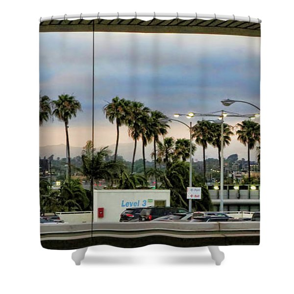 Lax Airport  Shower Curtain