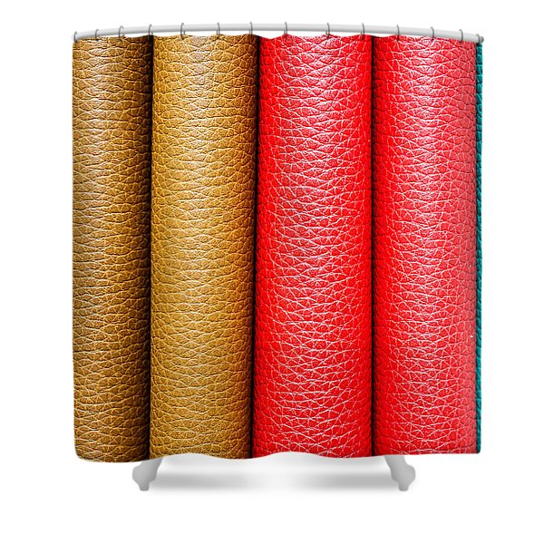 Leather Background  Shower Curtain