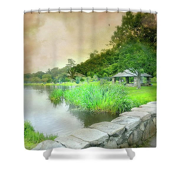 Let The Record Play Shower Curtain