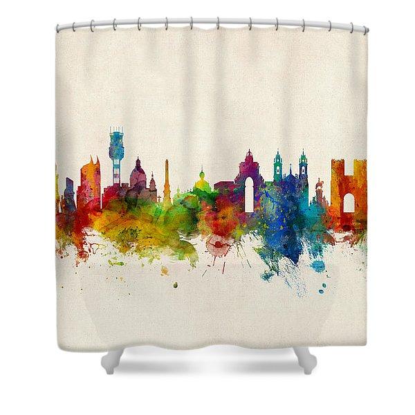 Lisbon Portugal Skyline Shower Curtain
