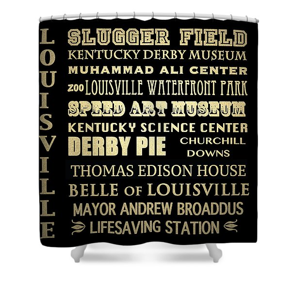 Louisville Famous Landmarks Shower Curtain