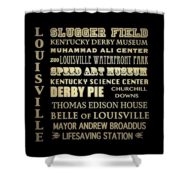 Louisville Famous Landmarks Shower Curtain