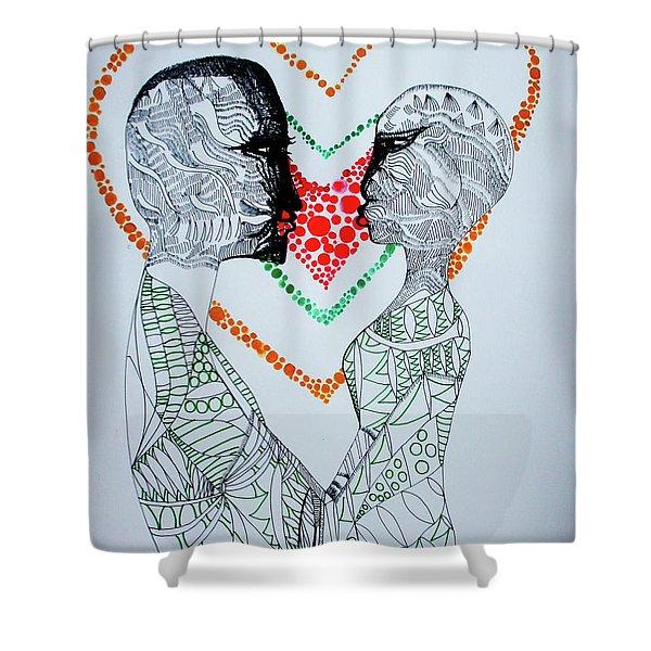 Love Is A Heart Shower Curtain