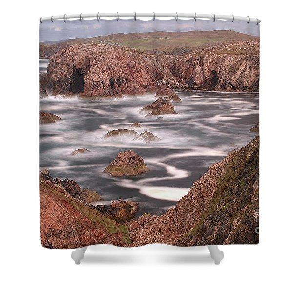 Mangersta Coastline Shower Curtain