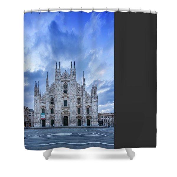 Milan Cathedral Santa Maria Nascente Shower Curtain