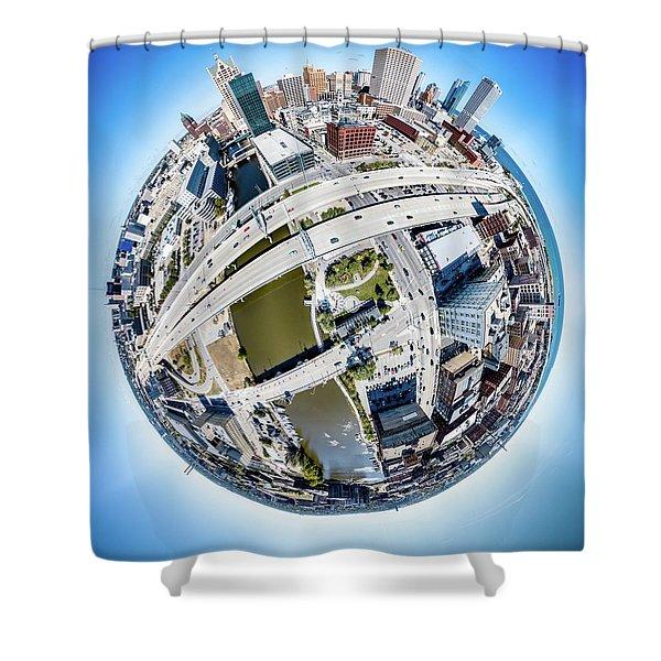 Milwaukee Riverwalk Shower Curtain